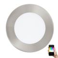 Eglo 32753 - LED RGB Prigušiva ugradbena svjetiljka FUEVA-C LED/5,4W/230V mat krom