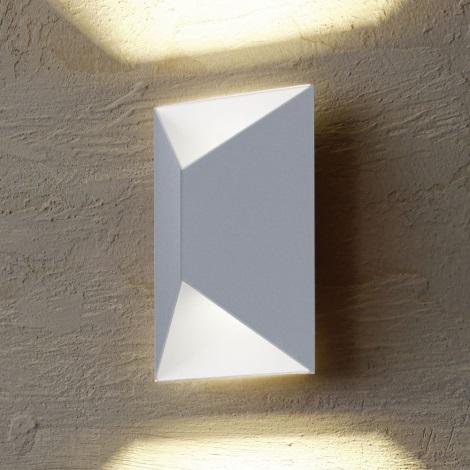 Eglo 54603 - LED Vanjska zidna svjetiljka PREDAZZO 2xLED/2,5W/230V IP44