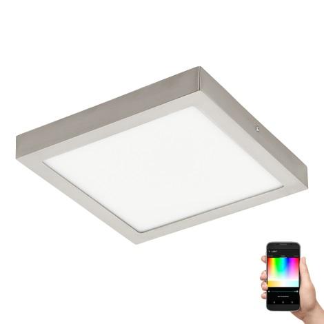Eglo 96681 - LED RGB stropna svjetiljka za prigušivanje FUEVA-C LED/21W/230V mat krom