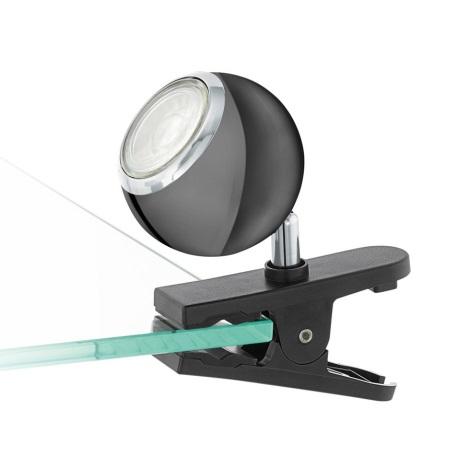 Eglo 96838 - LED Reflektorska svjetiljka sa kvačicom BIMEDA 1xGU10/3,3W/230V crna