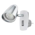 Eglo 96846 - LED Zidna lampa za utičnicu MONCALVIO 1 1xGU10/3,3W/230V