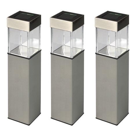 Grundig 90048 - SET 3x Solarna lampa LED/5,5x28cm IP65