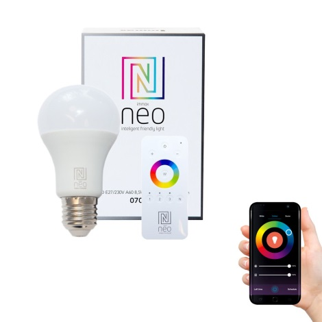 Immax NEO - LED žarulja za prigušivanje E27/8,5W/230V + upravljač ZigBee