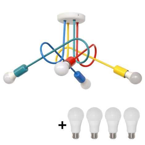 LED Dječji ugradbeni luster OXFORD 4xE27/10W/230V