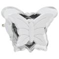 LED Noćno svjetlo za utičnicu 0,4W/230V bijeli leptir