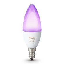 LED RGB Dimabilna žarulja Philips HUE WHITE AND COLOR AMBIANCE E14/6W/230V