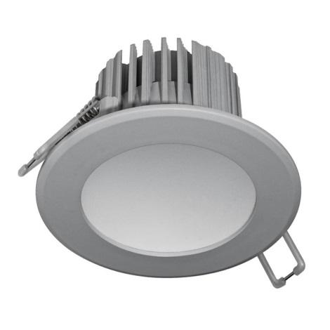 LED Ugradna svjetiljka za kupaonicu LED/7W/230V 2800K siva IP44