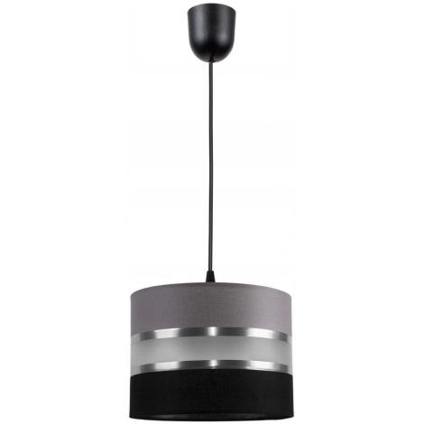 Luster na sajli CORAL S 1xE27/60W/230V crno siva