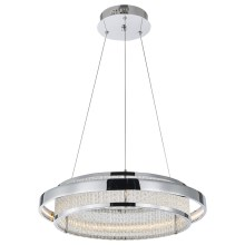 Luxera 64389 - LED kristalni luster na sajli SEATTLE LED/34W/230V