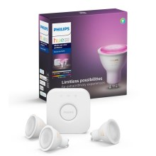 Osnovni set Philips HUE WHITE AND COLOR AMBIANCE 3xGU10/5,7W/230V