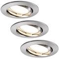 Paulmann 927.78 - SET 3x LED/6,8W Ugradbene svjetiljke za kupaonicu COIN 230V