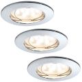 Paulmann 92759 - SET 3xLED/6,8W IP44 Ugradne svjetiljke za kupaonicu COIN 230V