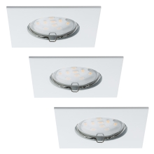 Paulmann 92760 - SET 3x LED Ugradna svjetiljka za kupaonicu COIN LED/6,8W IP44
