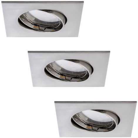 Paulmann 92773 - SET 3xLED/6,8W Ugradbena svjetiljka za kupaonicu COIN 230V