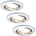 Paulmann 92780 - SET 3xLED/6,8W Ugradne svjetiljke za kupaonicu COIN 230V