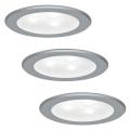 Paulmann 93544 - SET 3x LED Ugradna svjetiljka MICRO LINE 3xLED/3W/230V