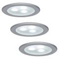Paulmann 98351 - SET 3xLED/3W Ugradna svjetiljka MICRO LINE 230V