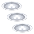 Paulmann 98352 - SET 3x LED Ugradna svjetiljka MICRO LINE 3xLED/3W/230V/12V