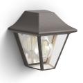 Philips 17385/43/PN - Vanjska zidna svjetiljka MYGARDEN CURASSOW 1xE27/42W