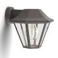 Philips 17386/43/PN - Vanjska zidna svjetiljka MYGARDEN CURASSOW 1xE27/42W