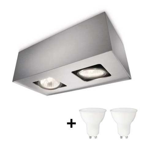 Philips 56232/48/PN - LED Reflektorska svjetiljka TEMPO 2xGU10/6W/230V