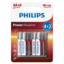Philips LR6P6BP/10 - 6 kmd Alkalna baterija AA POWER ALKALINE 1,5V