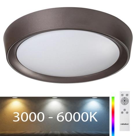 Rabalux - LED RGB Prigušiva stropna svjetiljka LED/24W/230V + DU 3000-6000K
