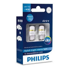 SET 2x LED Auto žarulja Philips X-TREMEULTION 127994000KX2 T10 W2,1x9,5d/0,8W