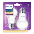 SET 2x LED žarulja Philips E27/13W/230V