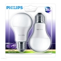 SET 2x LED žarulja Philips E27/6W/230V