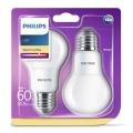 SET 2x LED žarulja Philips E27/8W/230V