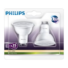 SET 2x LED žarulja Philips GU10/3,5W/230V