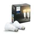 SET 2x LED Žarulja za prigušivanje Philips HUE WHITE AMBIANCE E27/8,5W/230V