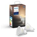 SET 2x LED Žarulja za prigušivanje Philips HUE WHITE AMBIANCE GU10/5,5W/230V