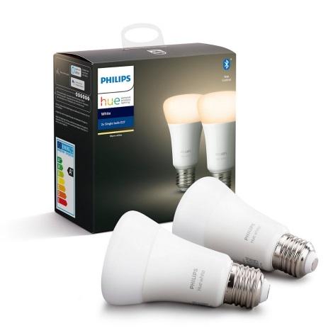 SET 2x LED Žarulja za prigušivanje Philips HUE WHITE E27/9W/230V