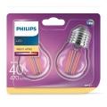 SET 2xLED Žarulja VINTAGE E27/4W/230V 2700K - Philips