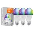 SET 3x LED RGB Prigušiva žarulja SMART+ E27/9W/230V 2700K-6500K Wi-Fi - Ledvance