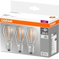 SET 3x LED žarulja BASE VINTAGE E27/6W/230V 4000K – Osram