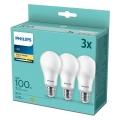 SET 3x LED Žarulja Philips A67 E27/14W/230V 2700K