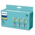 SET 3x LED Žarulja Philips E27/8,5W/230V 2700K