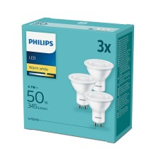 SET 3x LED Žarulja Philips GU10/4,7W/230V 2700K