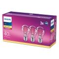 SET 3x LED Žarulja VINTAGE Philips E27/4,3W/230V 2700K