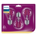SET 3x LED Žarulja VINTAGE Philips E27/4,3W/230V