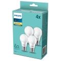 SET 4x LED Žarulja Philips E27/8W/230V 2700K