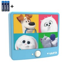 Varta 15642 - LED Dječja zidna svjetiljka sa senzorom THE SECRET LIFE OF PETS LED/3xAAA