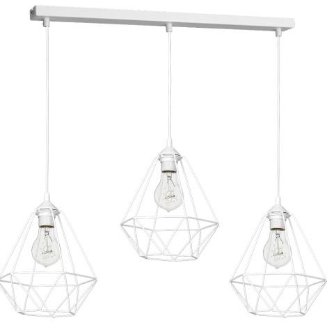 Viseća svjetiljka BASKET 3xE27/60W/230V bijela
